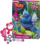 Adventní kalendář s vlasovými doplňky Trolls