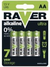 Alkalické baterie Ultra Raver
