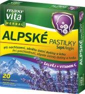 Pastilky při nachlazení a bolesti v krku Alpské MaxiVita