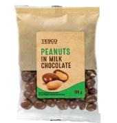 Arašídy v čokoládě Tesco