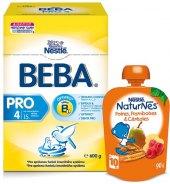 Balíček mléčná výživa Beba Nestlé + ovocné pyré NaturNes