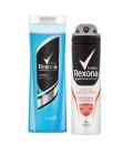 Balíček sprchový gel + deodorant sprej Rexona
