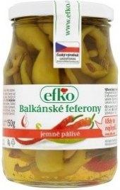 Balkánské feferony Efko