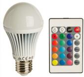 Barevná LED žárovka na dálkové ovládání Livarnolux