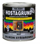 Barva na kov Silikon stříbřenka Hostagrund