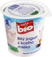 Bilý jogurt z kozího mléka Naše Bio