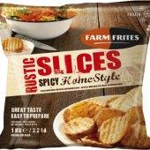 Bramborové plátky mražené Slices Farm Frites