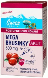 Doplněk stravy  mega brusinky akut Swiss