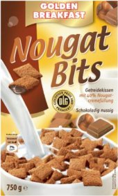 Cereálie Nougat-Bits Golden Breakfast