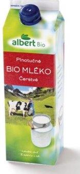 Mléko čerstvé Albert Bio - 3,6% plnotučné