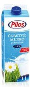Mléko čerstvé Pilos - 1,5% polotučné