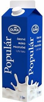 Mléko čerstvé Populár Olma - 1,5% polotučné