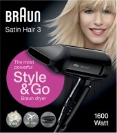Cestovní vysoušeč vlasů Satin Hair 3 Braun HD350