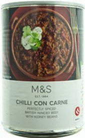 Chilli con carne Marks & Spencer