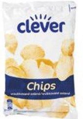 Chipsy vroubkované Clever