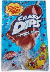 Lízátko s praskajícím práškem Crazy Dips Chupa Chups