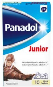 Čípky proti horečce a bolesti Junior Panadol