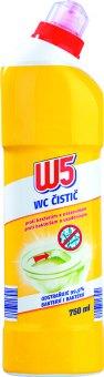 Čistič WC proti bakteriím a usazeninám W5