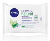Ubrousky čisticí pleťové Pure&Natural Nivea