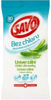 Univerzální čisticí ubrousky bez chloru Savo