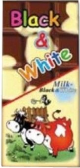 Čokoláda Black&White CBA