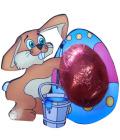Čokoláda na kartě - zajíc Čokoládovny Fikar