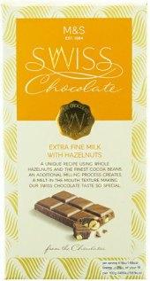 Čokoláda švýcarská Marks & Spencer