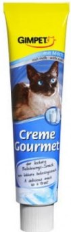 Pamlsky pro kočky s příchutí mléka Creme Gourmet Paste Gimpet