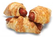 Croissant s párkem