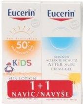 Dárková sada mléko na opalování pro děti + gel Eucerin Sun