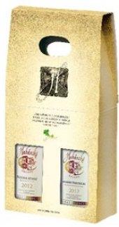 Víno Modrý Portugal + Sauvignon Habánské sklepy -  dárkové balení