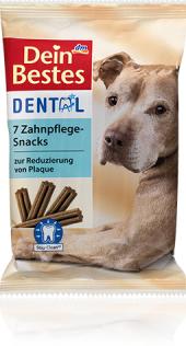 Pamlsky pro psy dentální tyčinky Dein Bestes