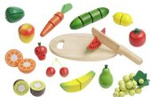 Dětská dřevěná sada ovoce a zeleniny Ideenwelt