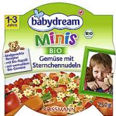 Menu dětské Bio Minis Babydream