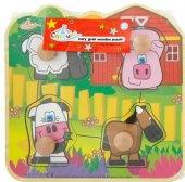 Dětské dřevěné puzzle Carousel