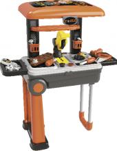 Skládací pracovní stůl a dětské nářadí 2v1 De Luxe Buddy Toys