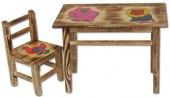 Dětský dřevěný jídelní set AD 230 - AD 232