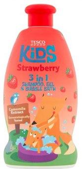 Šampon, sprchový gel a pěna 3v1 dětský Tesco Kids
