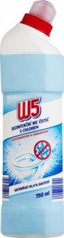 Dezinfekční čistič WC s chlorem W5