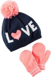 Dívčí set čepice a rukavice Hip & Hopps