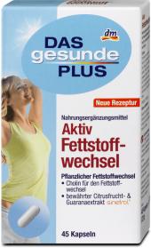 Doplněk stravy kapsle na spalování tuků Das gesunde Plus