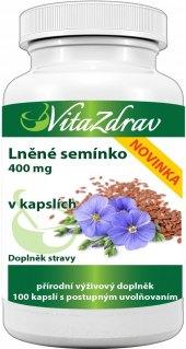 Doplněk stravy Lněné semínko VitaZdrav