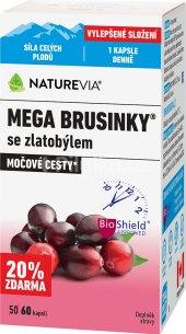 Doplněk stravy Mega brusinky se zlatobýlem NatureVia Swiss