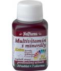 Doplněk stravy multivitamín s minerály + extra C Medpharma
