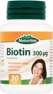 Doplněk stravy na vlasy Biotin Naturline