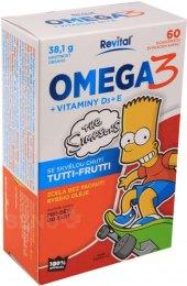 Doplněk stravy Omega 3+vitaminy D a E Revital