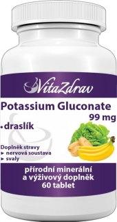 Doplněk stravy Pottasium gluconate VitaZdrav