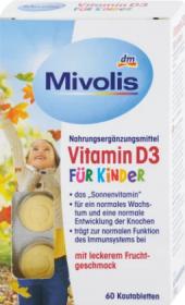 Doplněk stravy pro děti Vitamin D3 Mivolis