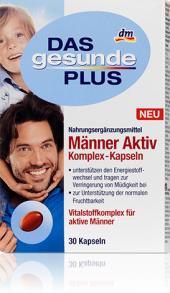 Doplněk stravy pro muže Aktiv komplex Das gesunde Plus
