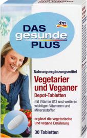 Doplněk stravy pro vegany a vegetariány Das gesunde Plus